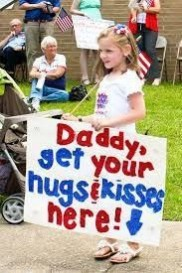 get your hugs and kisses here sign