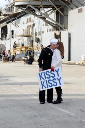 kissy kissy homecoming sailor sign
