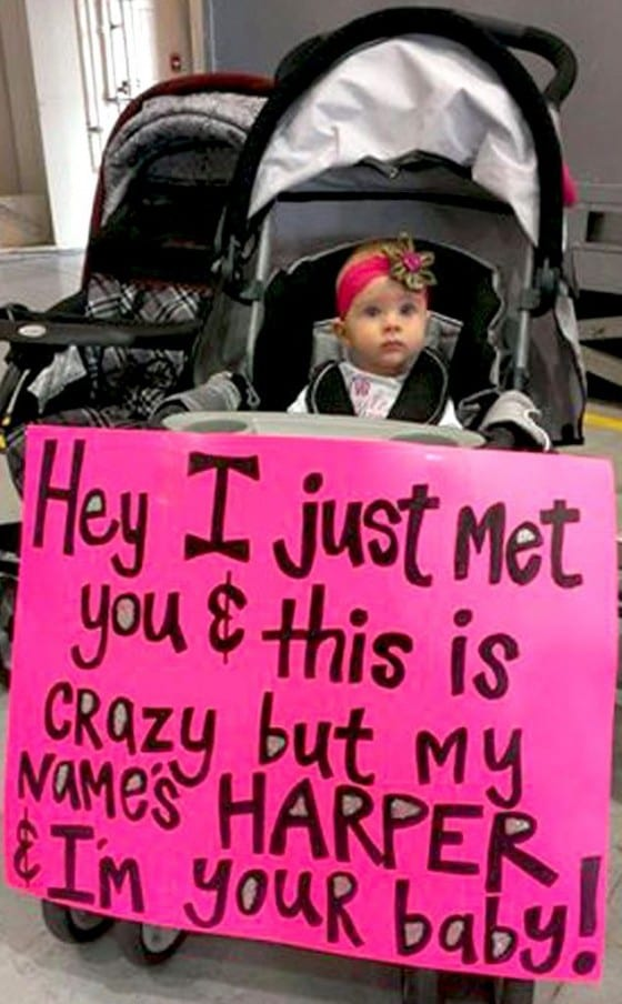 i just met you and this may be crazy sign