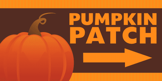 pumpkin patch directional sign