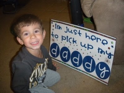 my dad is my hero sign