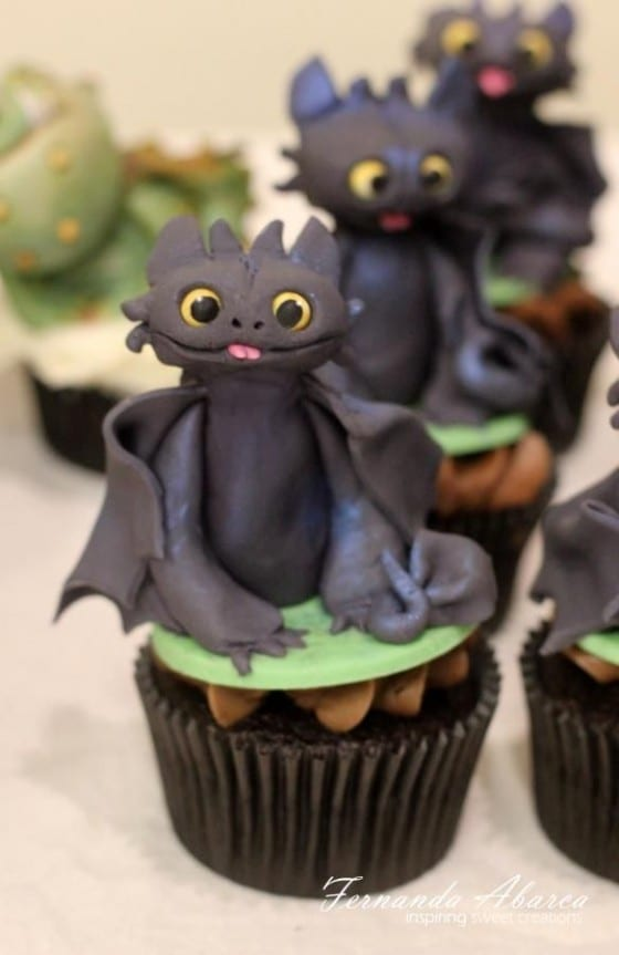 dragon birthday cupcakes