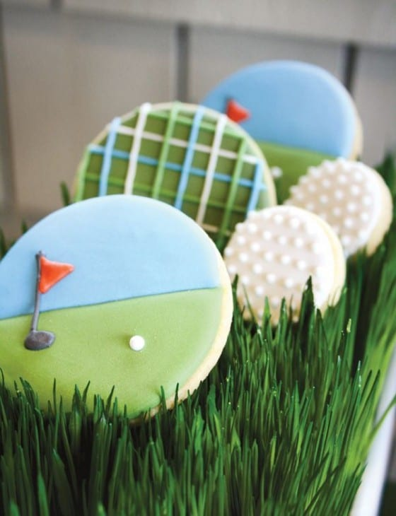 golf birthday party cookies