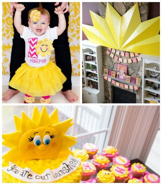 sunshine themed party