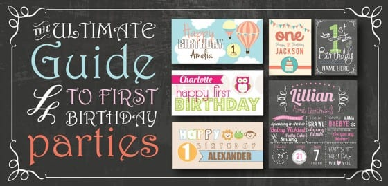 First Birthday Party Ideas Themes Games Amp More Signs Com