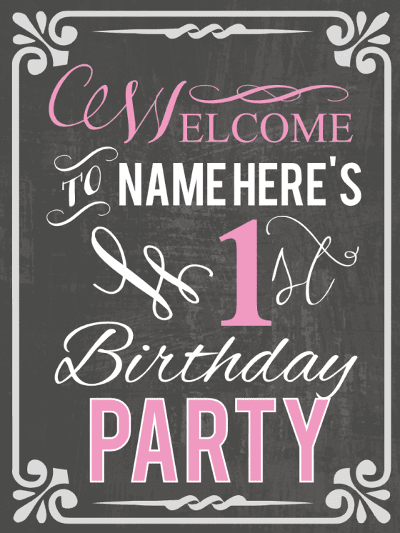 first birthday party ideas themes games more signs com
