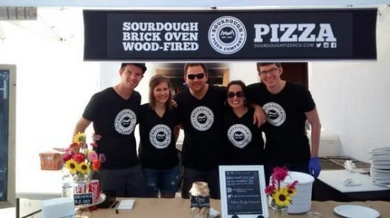 sourdough pizza co team with banner