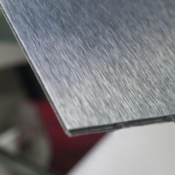 Blank Brushed Aluminum Metallic Apperance