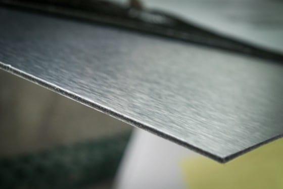 Brushed Aluminum E-panel close up