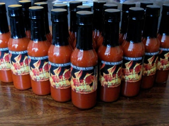 Red Hawk Premium Peppers Hot Sauce