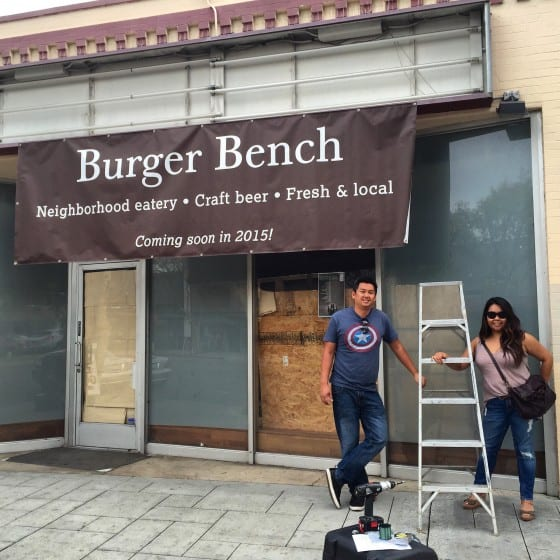 Burger Bench Opening Soon Banner