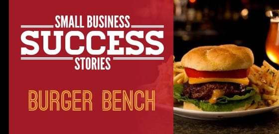 Small Business Succes Burger Bench
