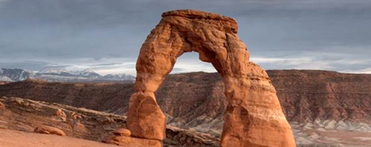 Banner on Delicate Arch