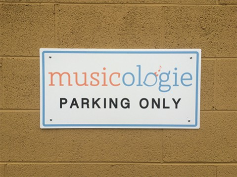 exterior plastic parking sign