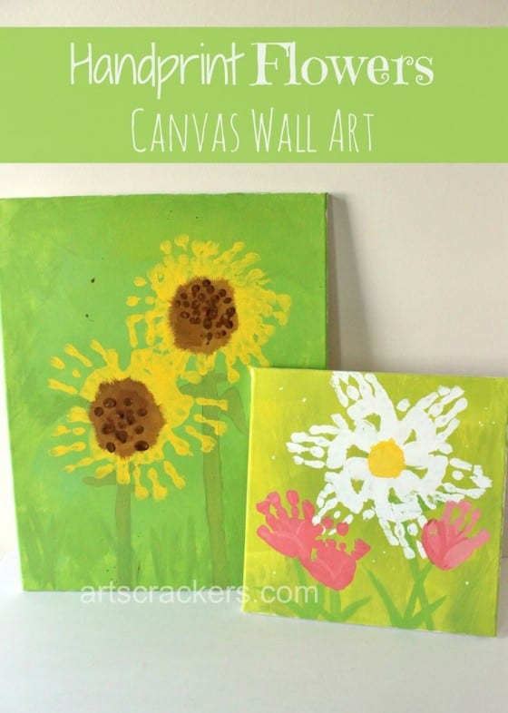 hand print flowers canvas print