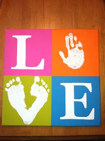love kids foot and hand prints