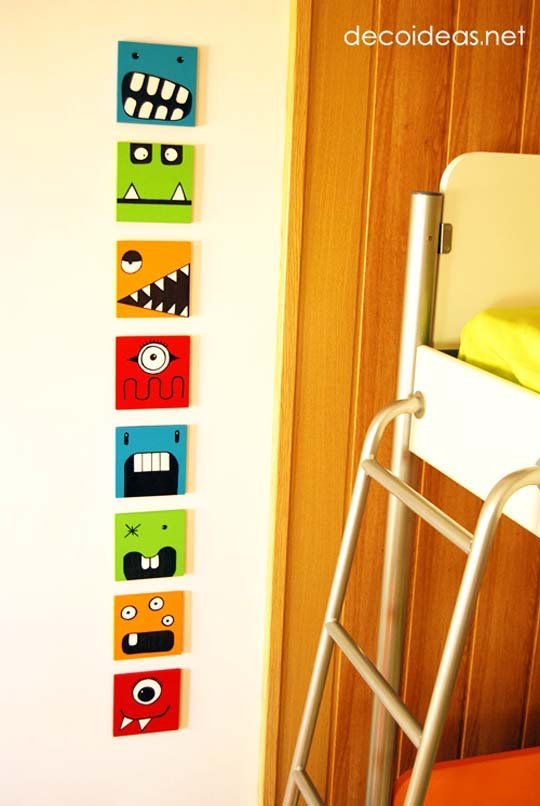 monster prints kids bedroom