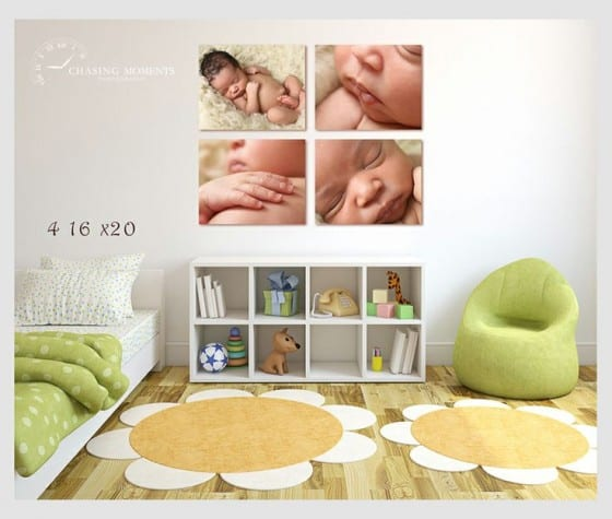 canvas prints of newborn