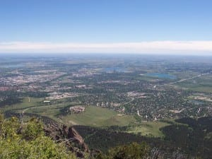 Boulder CO Aerial View