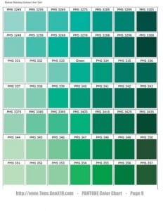 Pantone Colors Green