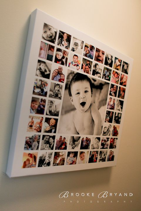 canvas print baby collage