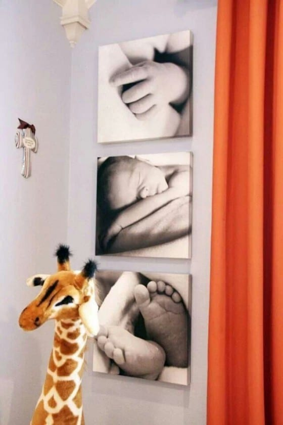canvas print of newborn