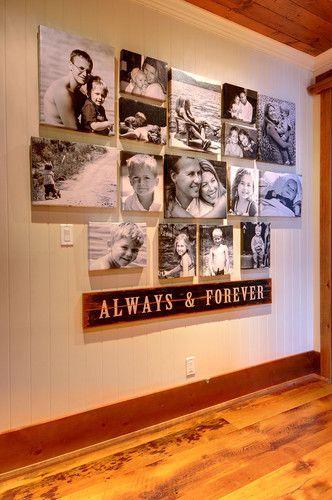 cabin hallway family prints