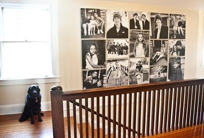 canvas prints of family for stairway