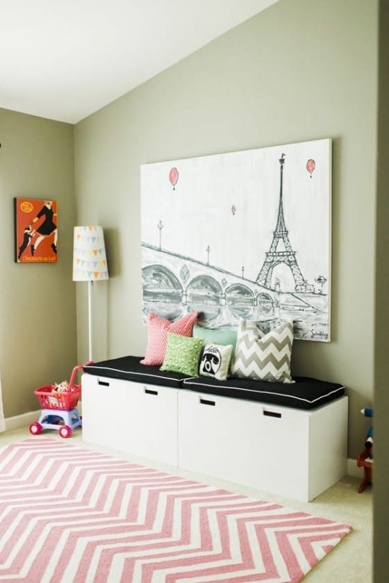 Cute eiffel tower wall art