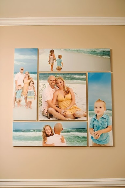 family beach prints