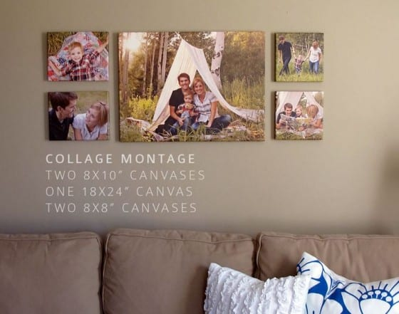 canvas prints family collage