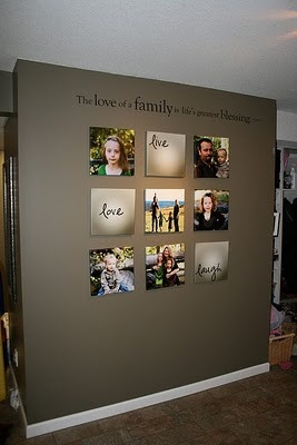 family prints square with vinyl