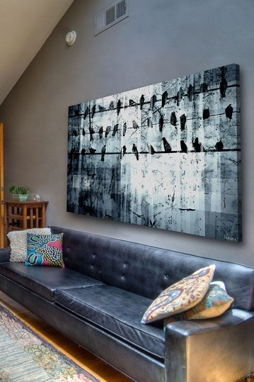 large canvas print living room