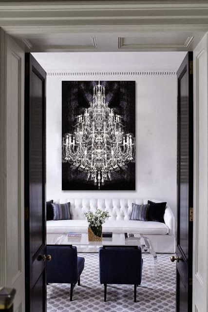 wall art living room chandelier