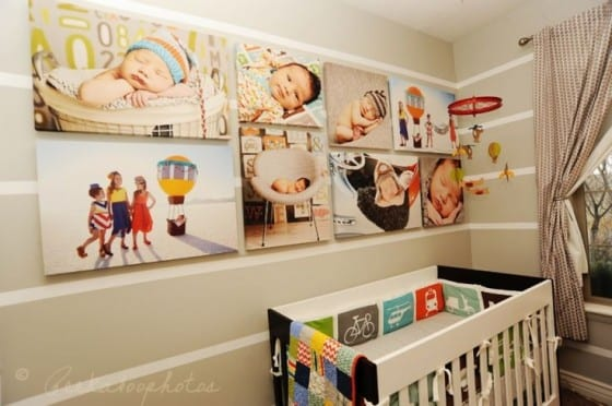 canvas prints peekabook crib