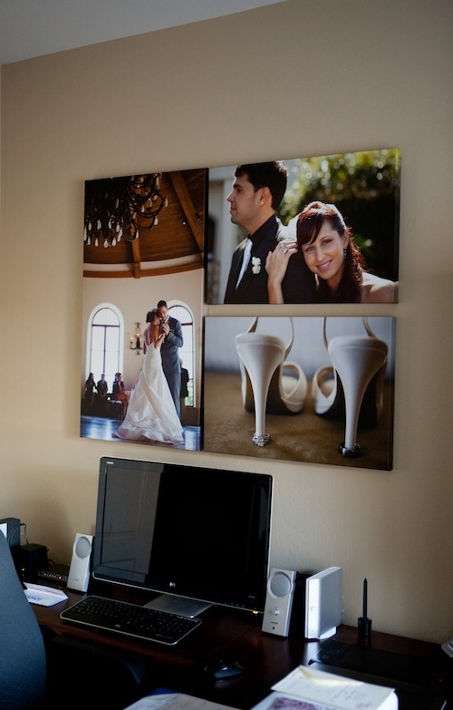 wedding prints in office