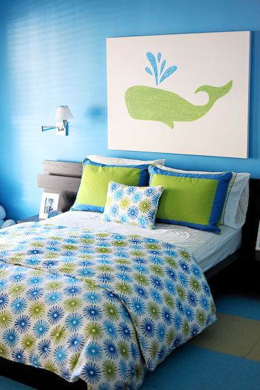 wall art boys bedroom whale