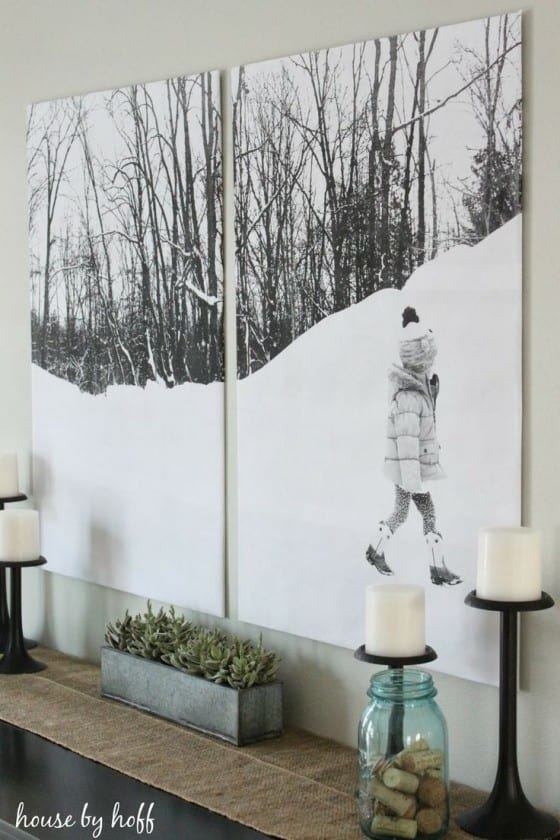 wall art winter boy