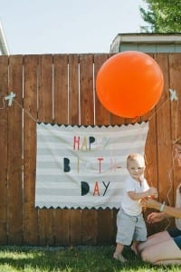Birthday Barry Fabric Banner