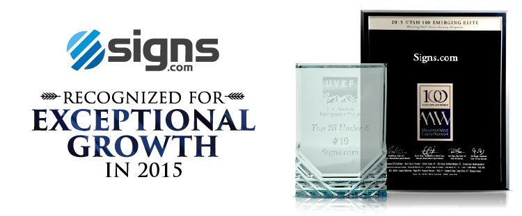Signs.com Exceptional Growth 2015