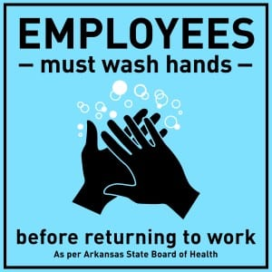 Arkansas handwashing sign