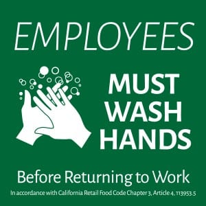 California handwashing sign