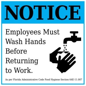 Florida handwashing sign