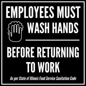 Illinois handwashing sign