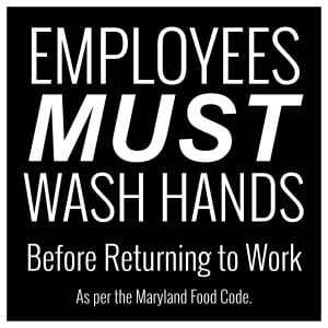 Maryland handwashing sign