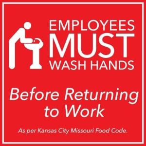 Kansas City Handwashing sign