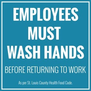 St. Louis handwashing sign