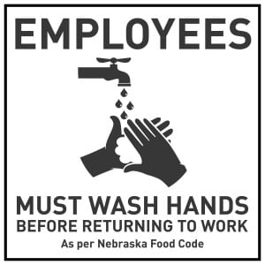 Nebraska handwashing sign
