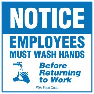 New Hampshire handwashing sign