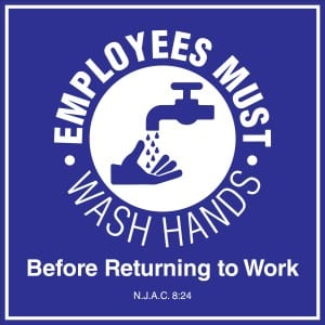 New Jersey handwashing sign